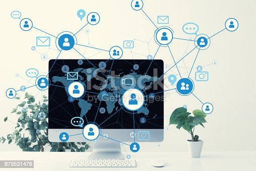 istock Global communication network concept. 875531476