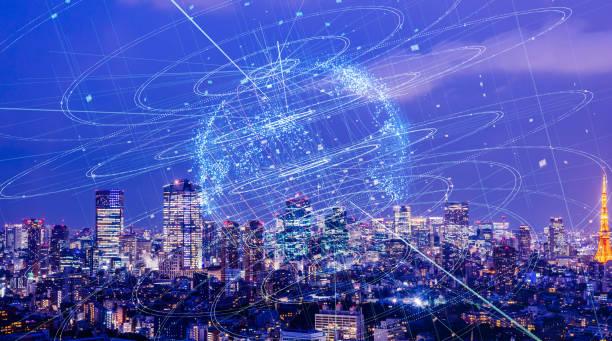 global kommunikation nätverk koncept. - jorden nyheter bildbanksfoton och bilder