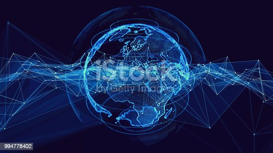 istock Global communication network concept. 994778402