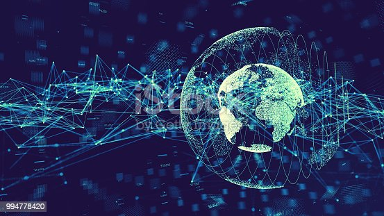 istock Global communication network concept. 994778420