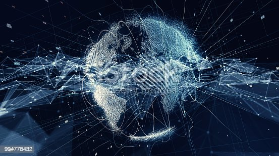 istock Global communication network concept. 994778432