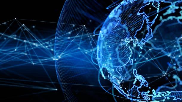 global communication network concept. - luogo d'interesse nazionale foto e immagini stock