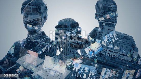 913588258 istock photo Global communication network concept. Social media. Worldwide business. 1209886052