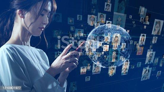 1127070103 istock photo Global communication network concept. Social media. Worldwide business. 1210901922