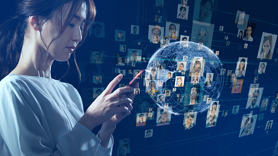 872670560 istock photo Global communication network concept. Social media. Worldwide business. 1210901922