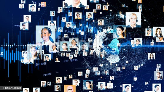 1180187740istockphoto Global communication network concept. Various ethnic group people. 1154261609