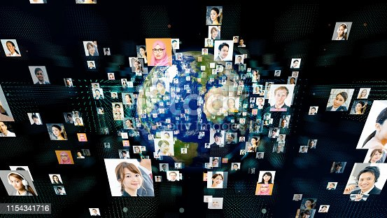 685409482istockphoto Global communication network concept. Various ethnic group people. 1154341716