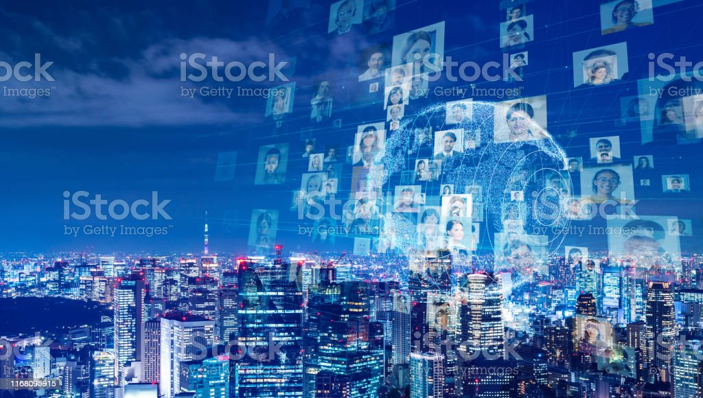 Global communication network concept. Worldwide business. Diversity. - Royalty-free 5G Stock Photo