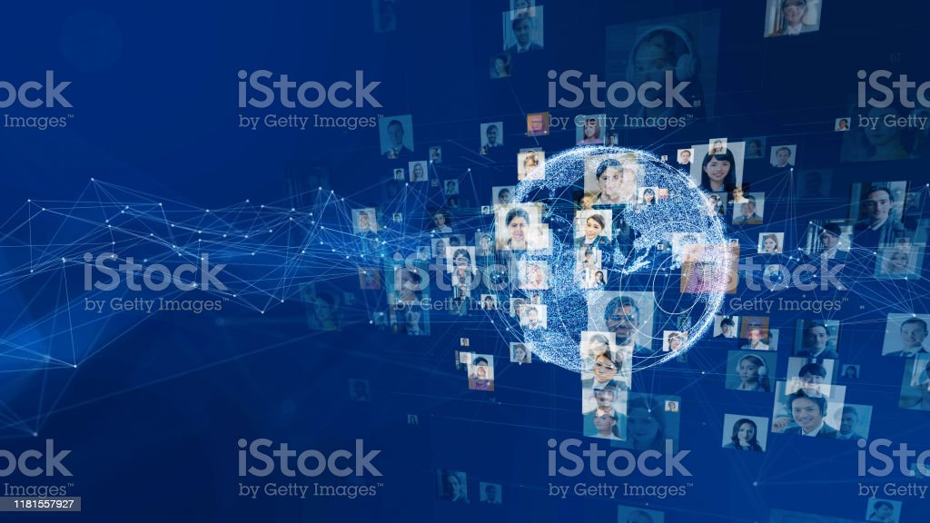 Global communication network concept. Worldwide business. Diversity. - Royalty-free Abstract Stock Photo