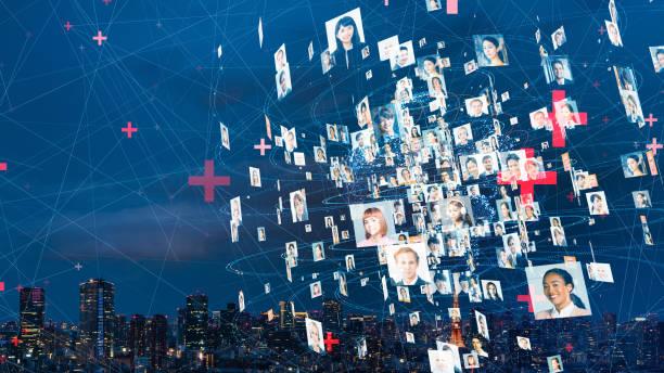 Global communication network concept. Worldwide business. Diversity. stock photo