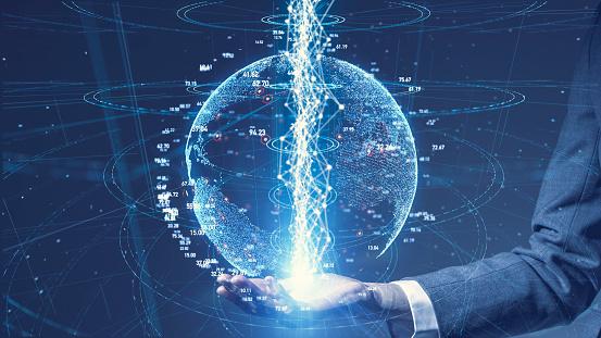 917493152 istock photo Global communication network concept. Worldwide business. 1168105727