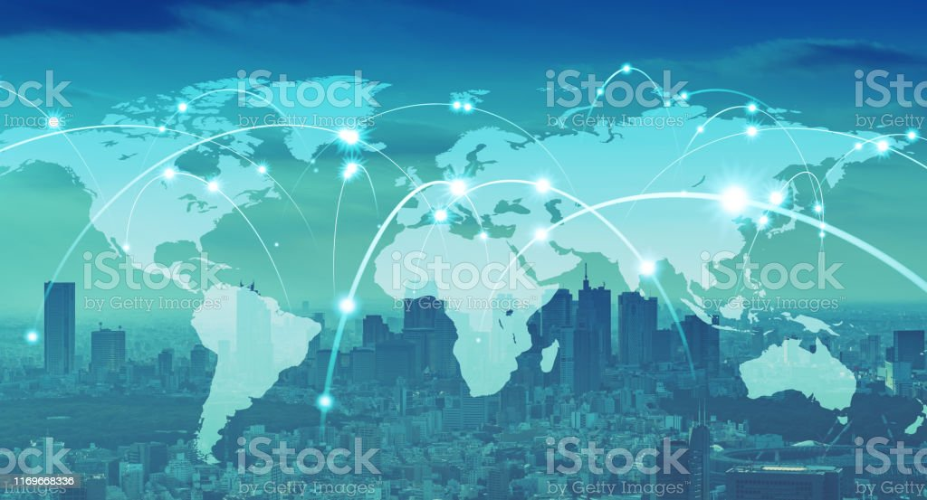 Global communication network concept. Worldwide business. - Royalty-free 5G Stock Photo