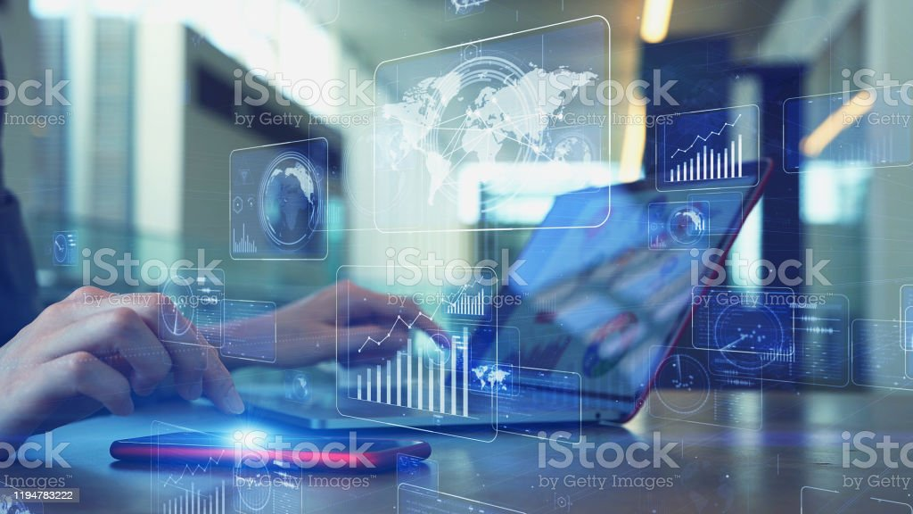 Global communication network concept. Worldwide business. - Royalty-free Abstract Stock Photo