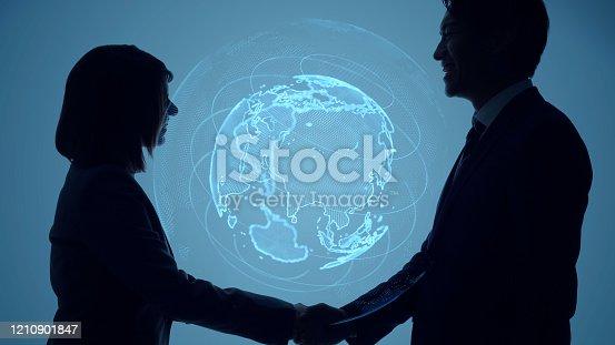 811259350 istock photo Global communication network concept. Worldwide business. 1210901847