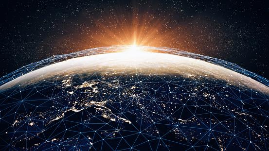 Global Communication Network - Fotografie stock e altre immagini di Affari