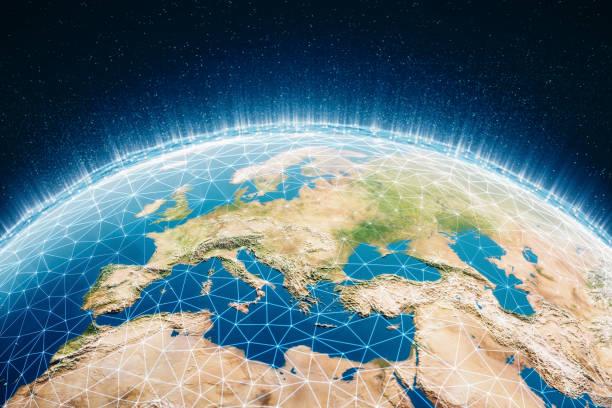 Globales Kommunikationsnetzwerk – Foto