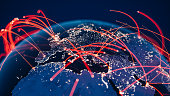 istock Global Communication Network (World Map Credits To NASA) 1271613373
