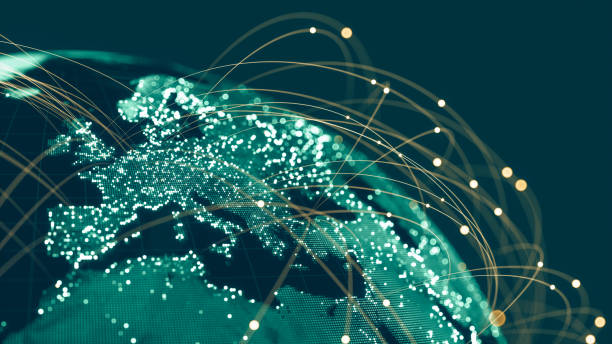 Global Communication Network stock photo
