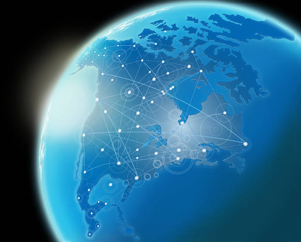 global communication. - north america stock photos and pictures
