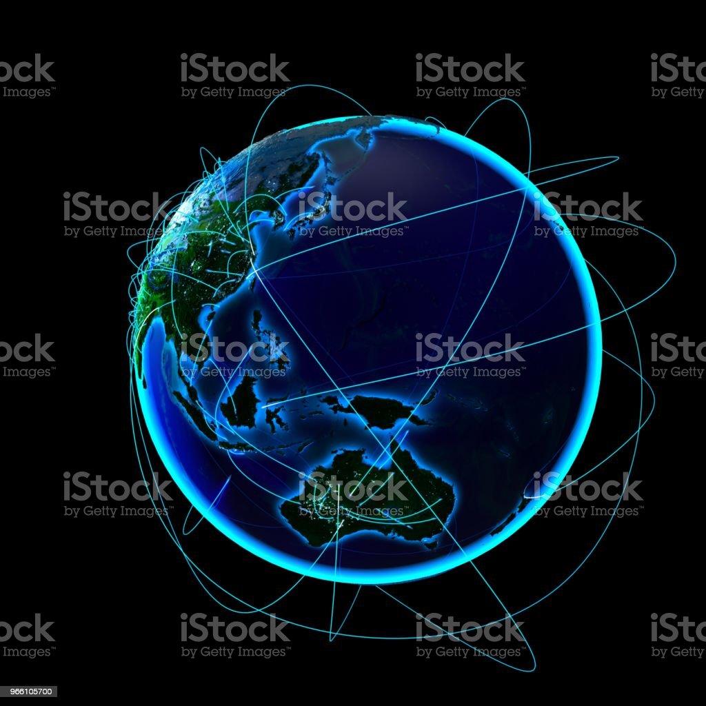 Global kommunikation - Royaltyfri Asien Bildbanksbilder