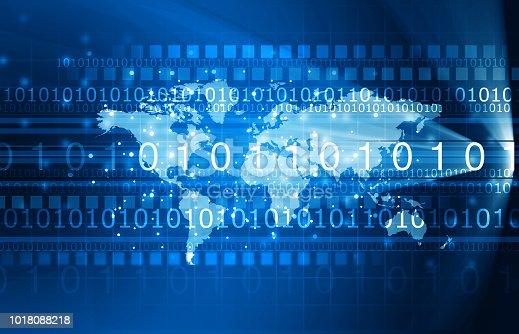 istock Global communication technology background 1018088218