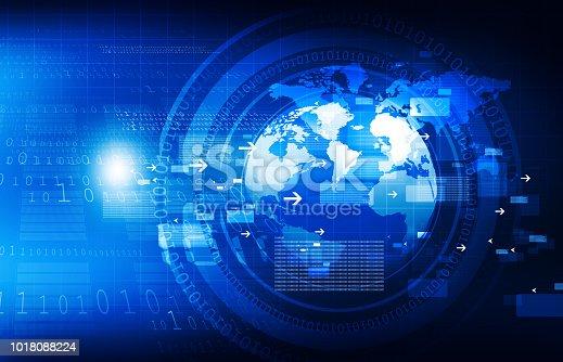 istock Global communication technology background 1018088224