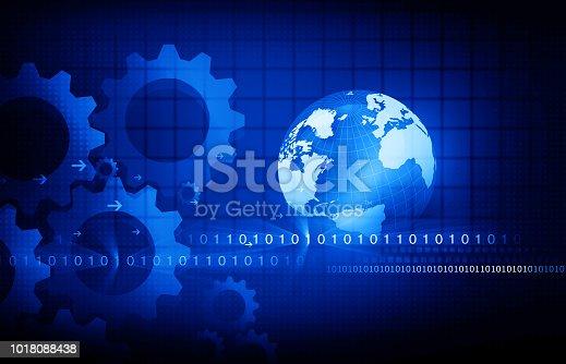 istock Global communication technology background 1018088438