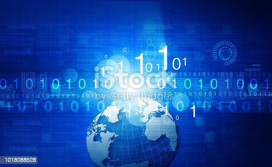 istock Global communication technology background 1018088528