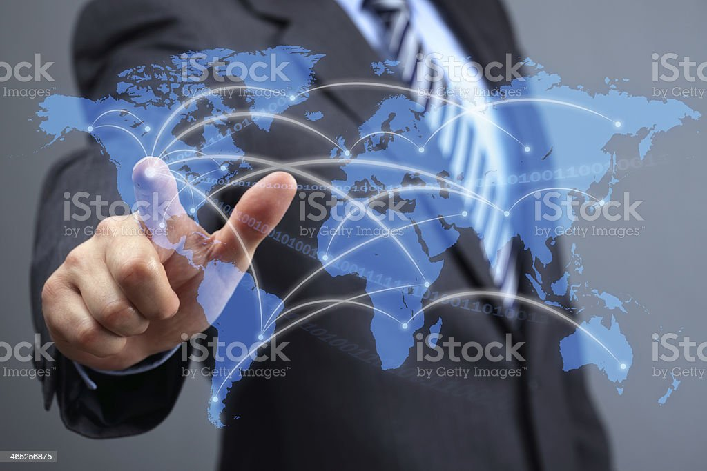 Global communications network stock photo