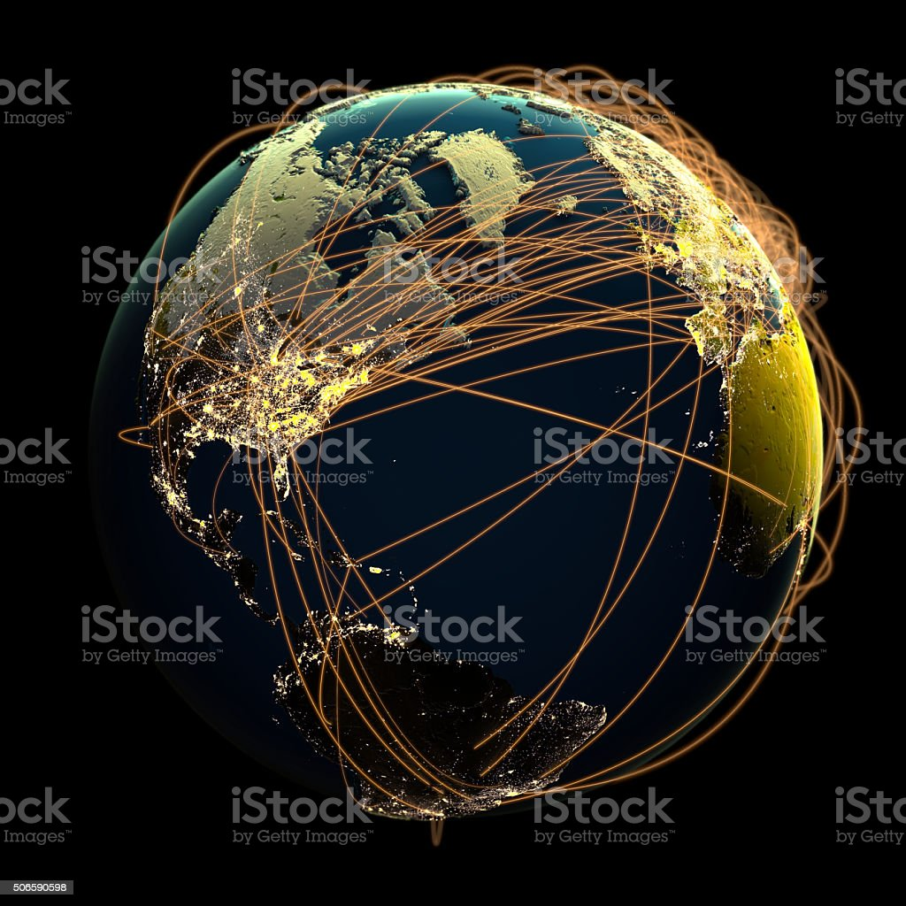 Global Communications. stock photo
