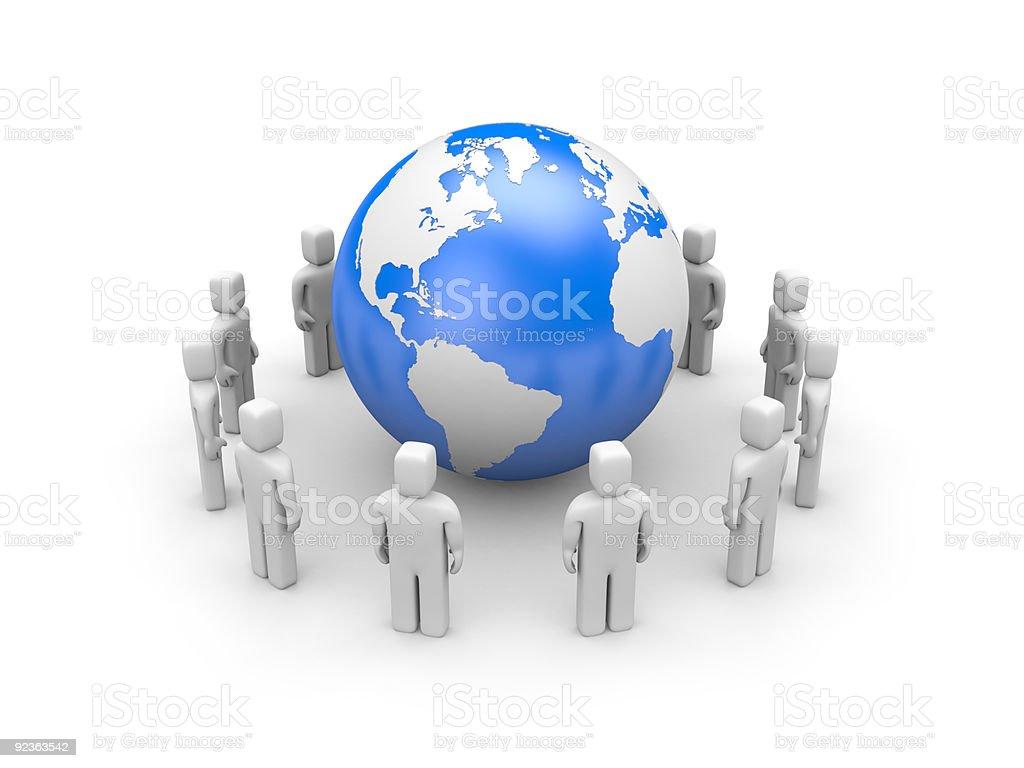 Global communications royalty-free stock photo