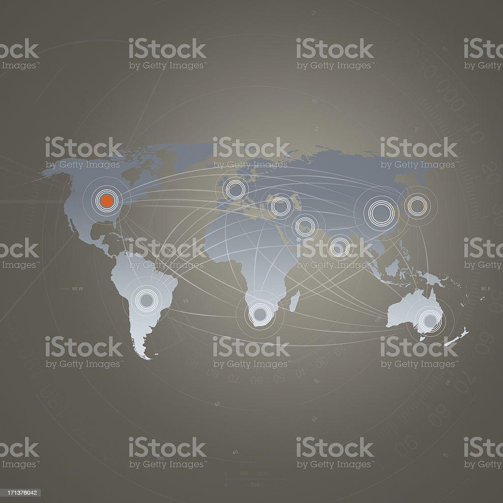 Global Communication-World Map stock photo