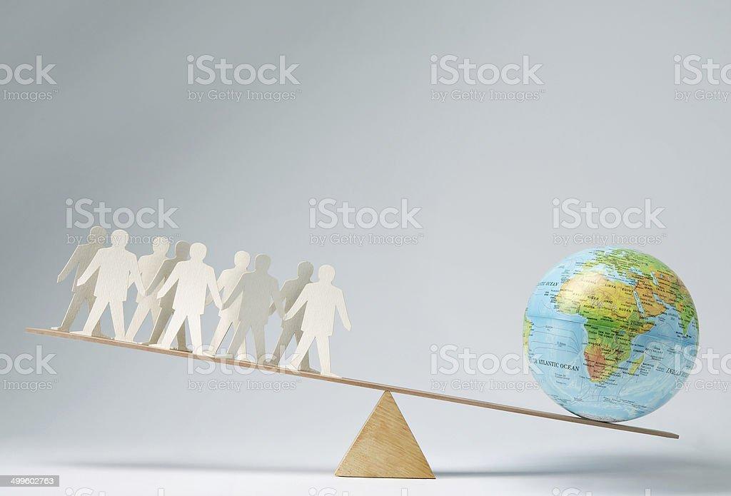 Global community stock photo