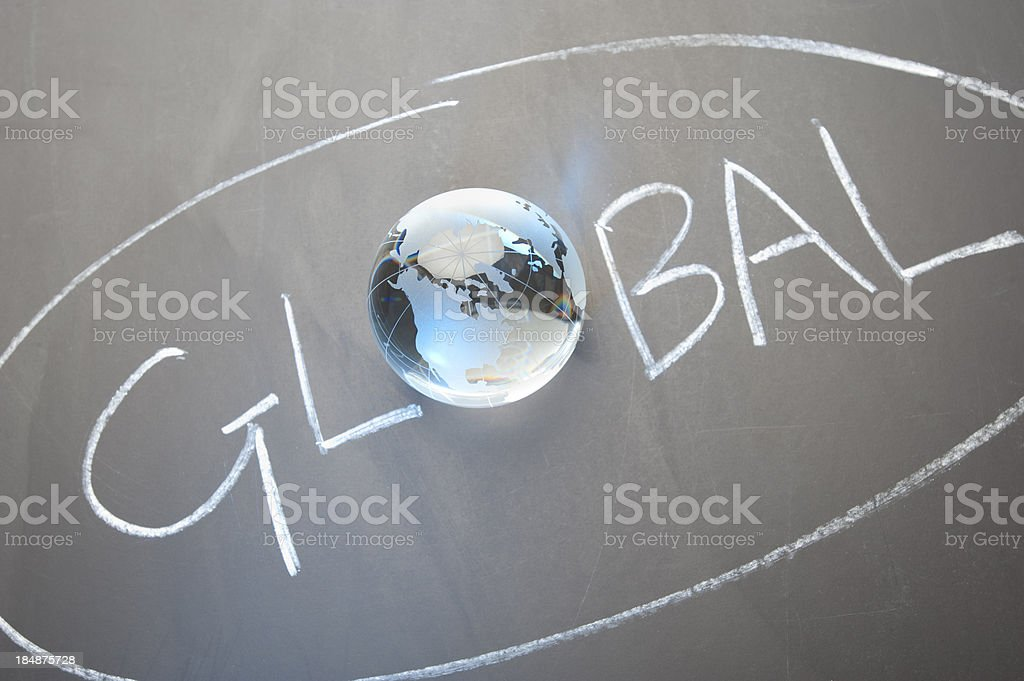 Global concept with globe map royalty-free stock photo