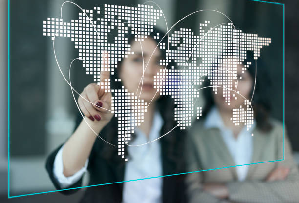 Globales Verbindungs-und Kommunikationsnetzwerk Konzept – Foto