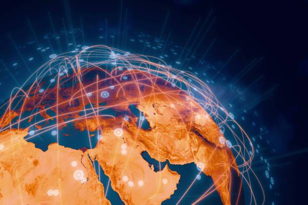 Globale Verbindungslinien – Foto