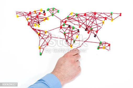 istock global connection or logistics concept 530639027
