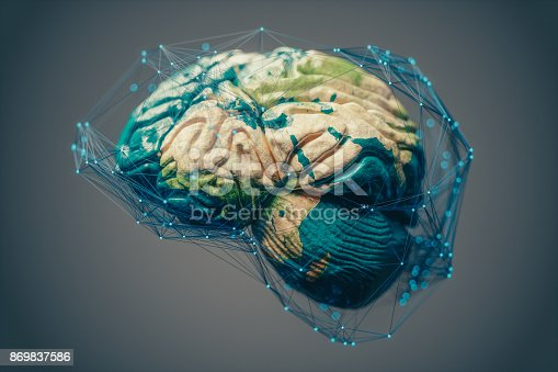 istock Global Connections, Artificial Intelligence And Cloud Computing 869837586