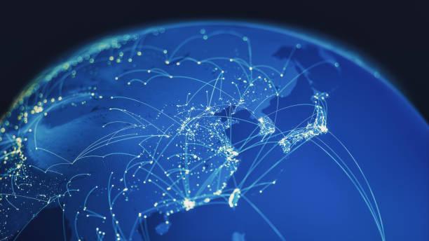 全球連接 - 東方 個照片及圖片檔