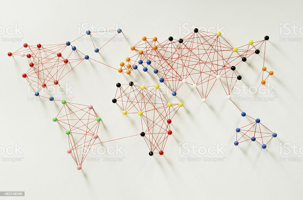 Global connections stock photo