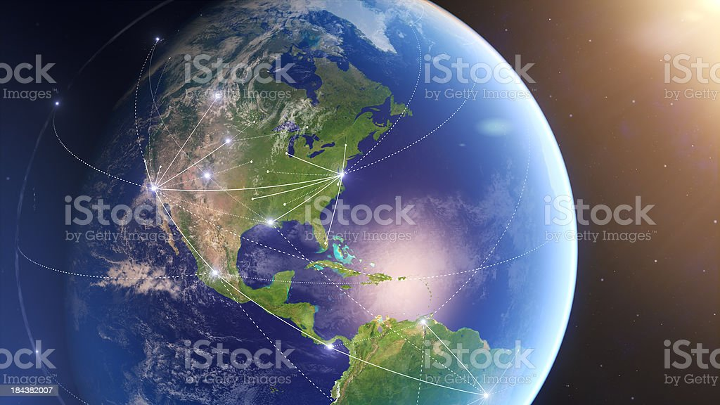 Global Connections USA stock photo