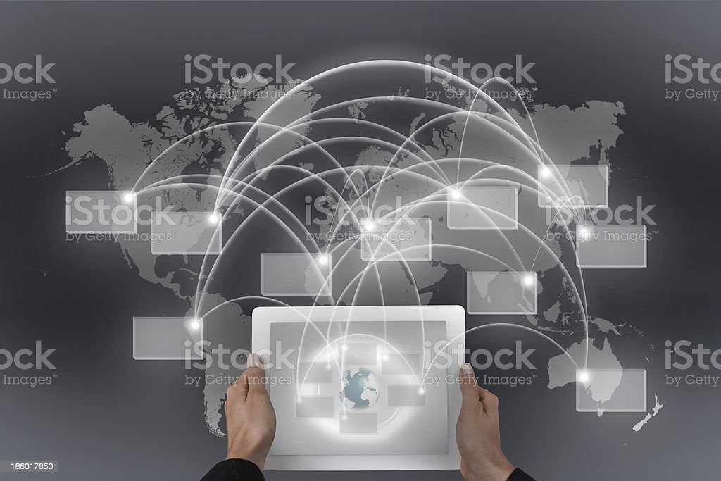 global connectivity stock photo