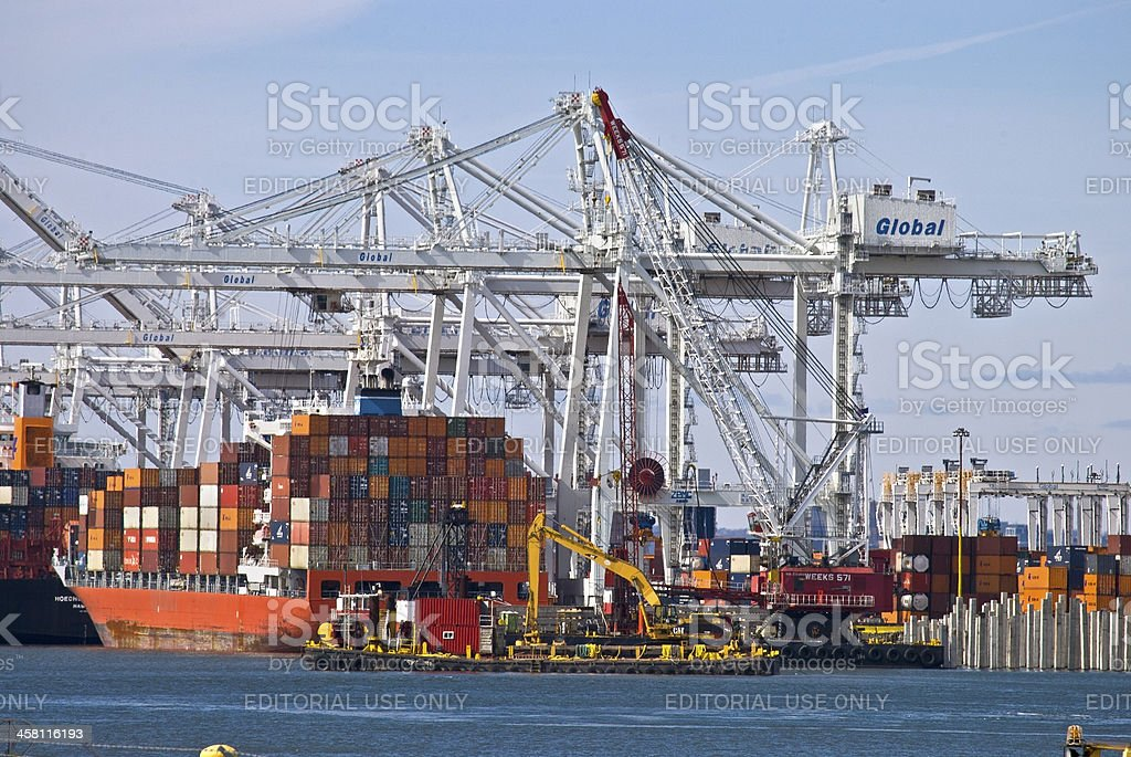 Global Container Port stock photo