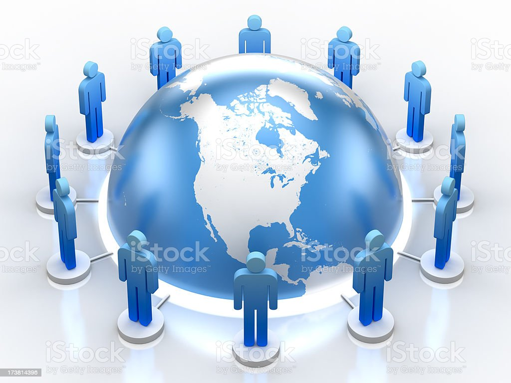Global cooperation (Clipping path) royalty-free stock photo