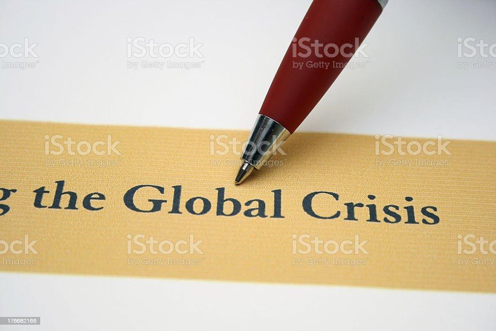 crisis Global foto de stock libre de derechos