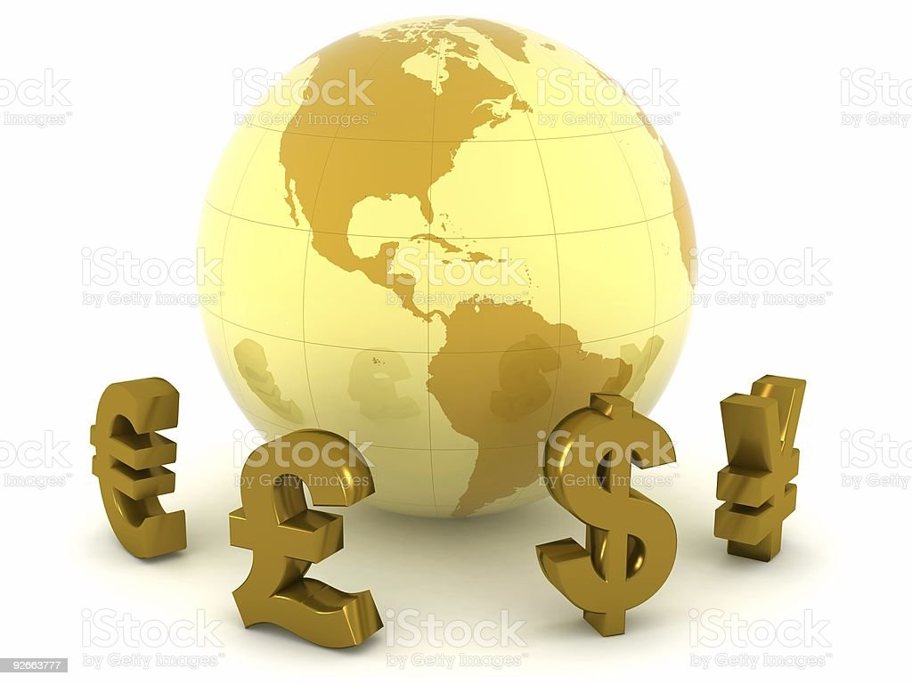 Global Currencies royalty-free stock photo