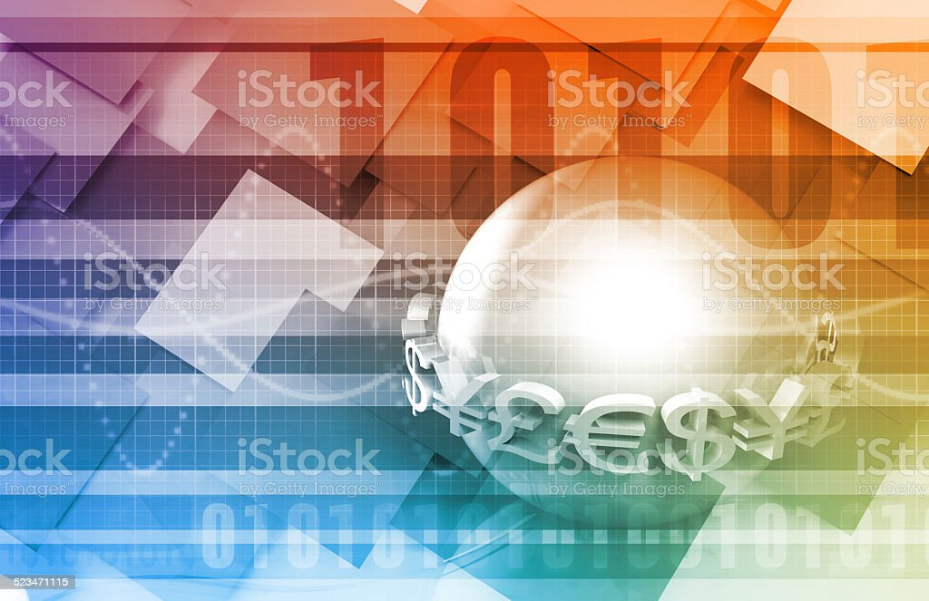 Global Currency Service stock photo