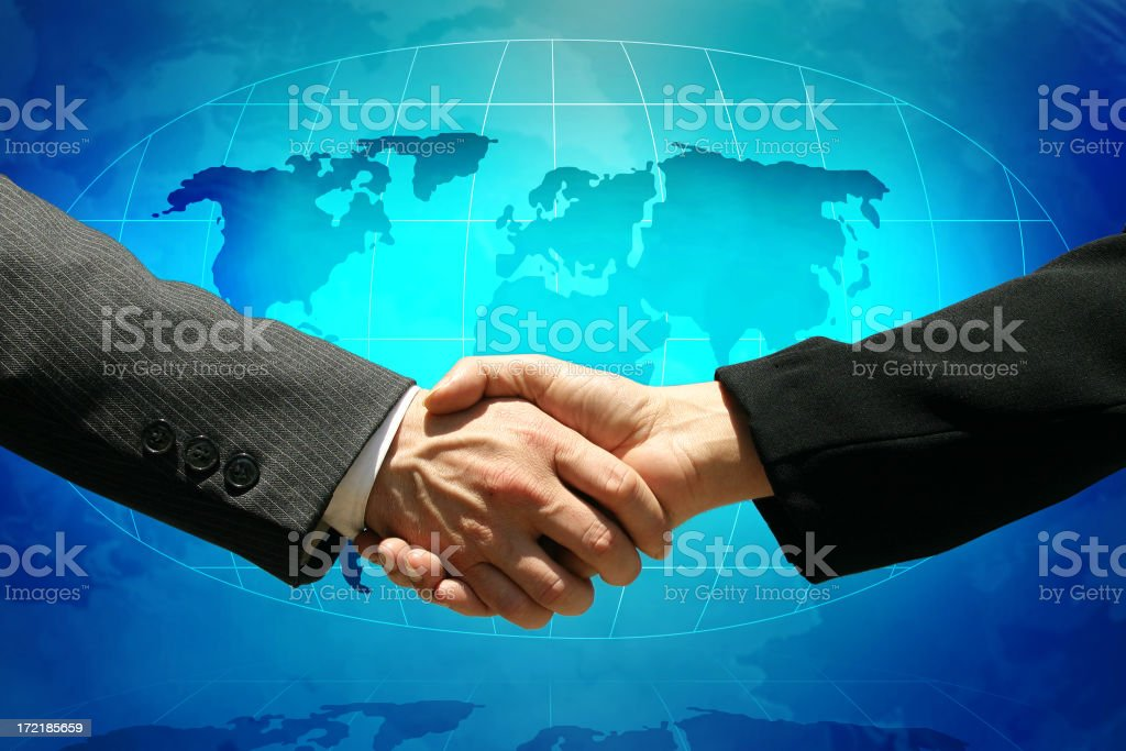Global deal royalty-free stock photo