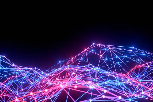 1148091793 istock photo Global digital mesh network, Blockchain, Futuristic Technology 1191022475