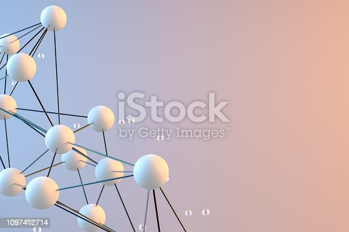 istock Global digital mesh network, Molecule, Blockchain 1097412714